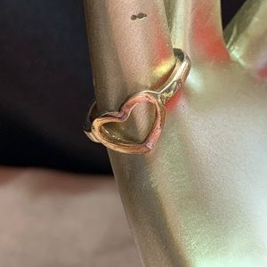 Costume Gold Tone Open Heart Ring